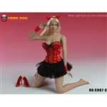 Clothing Set: Super Duck Red Corset Dress Set (SUD-C007C)
