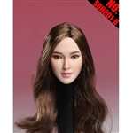 Head: Super Duck Asian Sculpt w/Brown Hair (SUD-SDH001B)