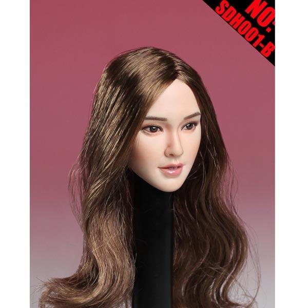 Asian Headsculpts - Long Blonde Hair - Super Duck 1/6