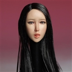 Head: Super Duck Asian Head Sculpt w/Black Hair (SUD-SDH006A)