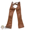 Pants: Super Duck Brown Female Leatherlike Chaps