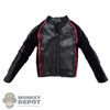 Coat: Special Figures Mens Black Motorcycle Jacket