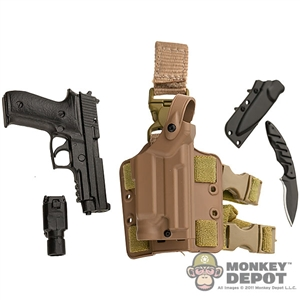 Pistol: Soldier Story SIG 226 w/Light, Holster, Knife