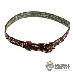 Belt: Soldier Story B9 Fancy Stitched Belt Brown