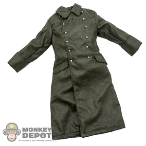 Coat: Soldier Story German WWII Green Leatherlike Greatcoat