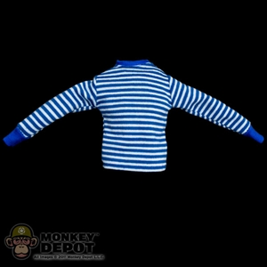 Shirt: Soldier Story Blue/White Striped Long Sleeve