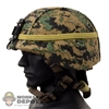 Helmet: Soldier Story USMC MICH w/Cover, NVG Bracket in Woodland Marpat