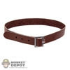Belt: Soldier Story Canvas Brown Belt w/Metal Buckle