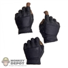 Hands: Soldier Story Black Viper Fingerless Leather Gloved Hand Set