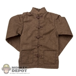 Shirt: Soldier Story Brown Tang Suit Shirt