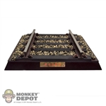 Diorama: Soldier Story Die-Cast Metal & Wooden Rail Track Section Display
