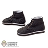 Shoes: Soldier Story Black Laced Cloth Shoes