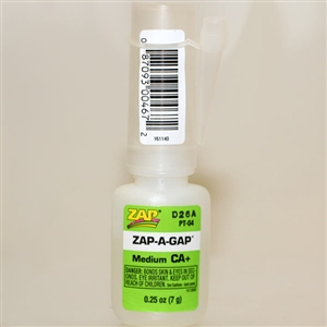 Glue: Zap 1/4 Oz. Zap-A-Gap CA+ (PAA-4)