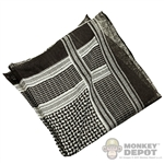 Scarf: Playhouse Shemagh (Black and White)