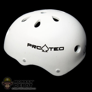 Helmet: Playhouse Half-Cut Protec Helmet White