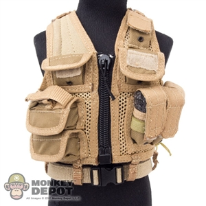 Vest: Playhouse Omega EOD Vest Tan w/Belt