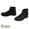 Boots: Subway Black Scuffed Boots
