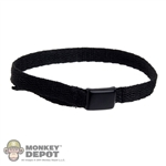 Belt: Subway Black Cloth Belt