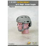 Helmet: Toys City FAST Carbon Helmet w/ Night Vision - Foliage Green