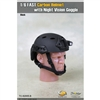 Helmet: Toys City FAST Carbon Helmet w/ Night Vision - Black