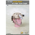 Helmet: Toys City FAST Carbon Helmet w/ Night Vision - Urban Tan