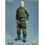 Uniform Set: Toys City Custom Combat Uniform Set In Woodland (TCT-62007A)