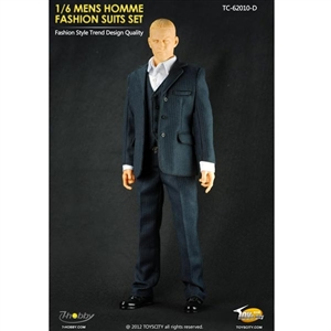 Uniform Set: Toys City Mens Hommes Fashion Suits Set - Stripes (TCT-62010D)