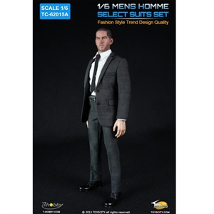 Uniform Set: Toys City Mens Hommes Fashion Suits Set - Stripes (TCT-62015A)