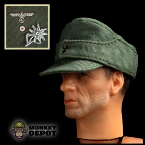 Hat: Toys City German WWII Bergmutze w/Insignia