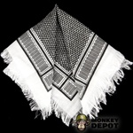 Scarf: Toys City Shemagh Black and White