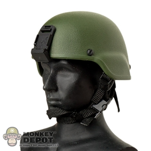 Helmet: Toys City MICH Green w/NVG Mount
