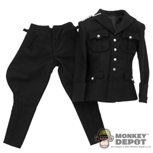 Uniform: Toys City Officer's Black Service Uniform of Waffen-SS