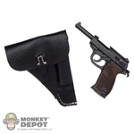 Pistol: Toys City German WWII Walther P-38 w/Black Holster