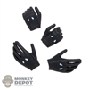 Hands: TF Toys Female Black Molded Hand Set