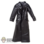 Coat: TiTToys German WWII Long Black Leatherlike Jacket