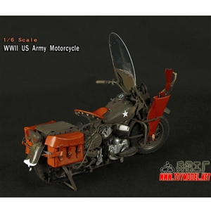 Boxed Vehicle: Toy Model 1/6 WWII US Army Motorcycle (TML-004)