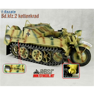 Boxed Vehicle: Toy Model 1/6 WWII German Sd.kfz.2 Kettenkrad Camo (TML-005C)