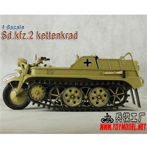 Boxed Vehicle: Toy Model 1/6 WWII German Sd.kfz.2 Kettenkrad Tan (TML-005T)