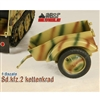 Boxed Vehicle: Toy Model 1/6 WWII German Sd.kfz.2 Kettenkrad Trailer Camo (TML-006C)