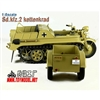 Boxed Vehicle: Toy Model 1/6 WWII German Sd.kfz.2 Kettenkrad Trailer Tan (TML-006T)