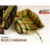 Boxed Vehicle: Toy Model 1/6 WWII German Sd.kfz.2 Kettenkrad Trailer Grey (TML-006G)