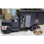 Boxed Vehicle: Toy Model Opel Blitz Ambulance Truck in Panzer Gray (TML-1506)