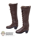 Boots: TS Toys Brown Lace Up Boots