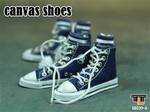 Shoes: TTL Toys Canvas Shoes Blue w/ Socks (TTL-6839A)