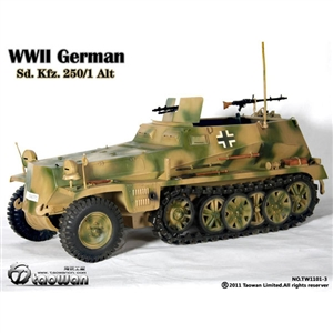 Taowan 1/6 WWII German Sd. Kfz. 250/1 Alt - Green (TW1101-3)