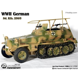 Taowan 1/6 WWII German Sd. Kfz. 250/3 - Communication Vehicle Green Camo. (TW1102-3)