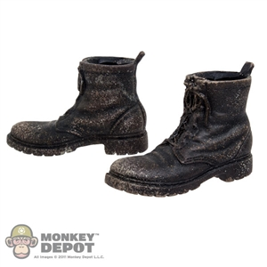 Boots: ThreeZero Walking Dead Weathered Boots w/Feet
