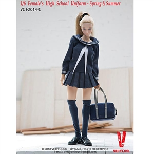 Clothing Set: Very Cool Sailor High School Outfit in Blue (VCM-2014C)