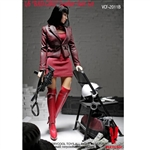Clothing Set: Very Cool Bad Girl Red Leather Suit (VCM-2011B)