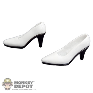 Shoes: Very Cool White High Heel Shoes (VCF-2017C)